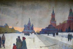 Oil painting Red Square Dubrovin Dmitriy Nikolayevich