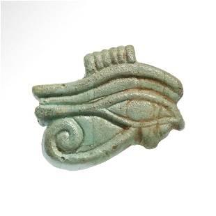 Egyptian Faience Eye of Horus