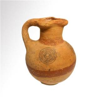 Cypriot Terracotta Painted Jug, Cypro-Geometric Period,