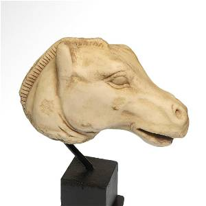 Roman Marble Horse Head, c. 2nd Century A.D.