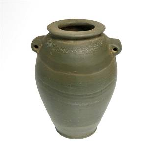 Egyptian Early Dynastic Banded Serpentine Vessel, 1st -