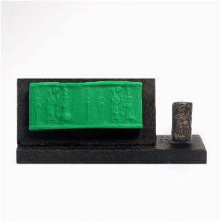Old Babylonian Steatite Cylinder Seal, c. 1900-1600