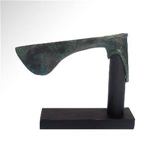 Luristan Bronze Axe Head, Persia, c. Early 1st
