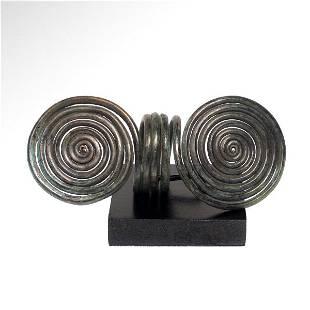 Bronze Age Spiral Finger Ring, c. 1000-900 B.C.