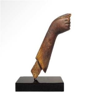 Egyptian Wooden Arm, New Kingdom to Late Period, c.
