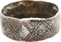 DOUBLY RARE VIKING RING 9th-11th CENT AD SZ 5
