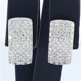 18K White Gold - Earring