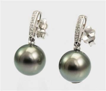 10x11mm Round Bright Tahitian Pearls - 14 kt. White