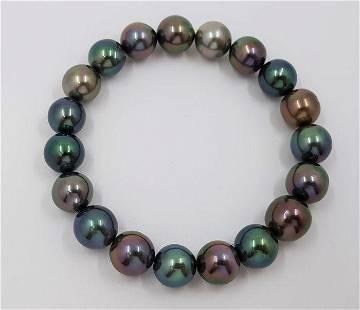 9.5x11mm Shimmering Tahitian pearls - Bracelet