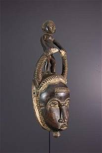 Baule Ndoma mask - Ivory Coast - African Art Tribal Art