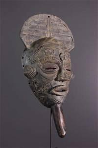 Bena Lulua mask with handle - DRC Congo - African Art