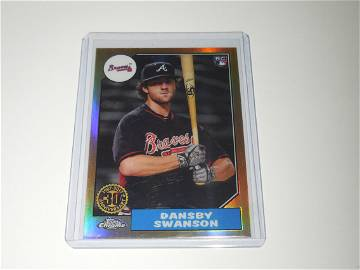 2017 TOPPS CHROME DANSBY SWANSON ROOKIE REFRACTOR