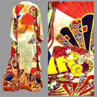 Antique Japanese Kimono Gold Embroidery amazing