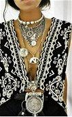 Vtg Rare Unique Beaded long Vest/Waistcoat 60's