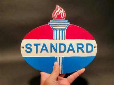 Cast Iron Standard Oil Plaque Sign