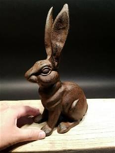 Cast Iron Garden Table Door Stop Rabbit Hare