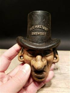Cast Iron Ole Masters Brewery Beer Bottle Opener