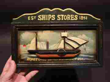 Wood English Pub Ship Stores 1851 Sailor Sign