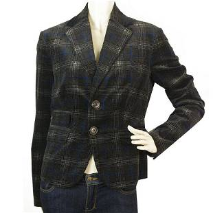Dsquared 2 D2 Blue & Gray Velour Feel Cotton Checked