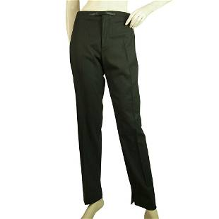 Gucci Black Wool Cashmere Luxurious Pants Classic
