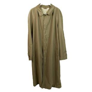 Cerruti 1881 Men's Beige Taupe Raincoat Trench Long
