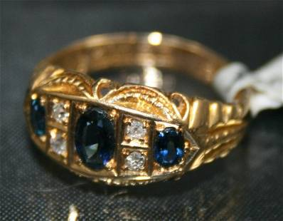 Deakin & Francis Sapphire & Diamond Ring