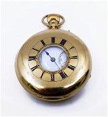 Gentleman's 18ct Gold Half Hunter Pocket Watch by