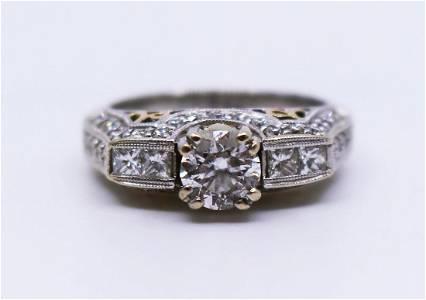 1.53 Carat Diamond Ring White Gold