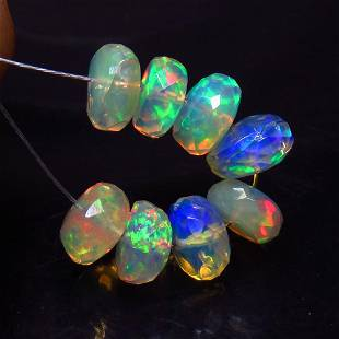 4.42 Ct Natural 8 Ethiopian Drilled Faceted Fire Opal