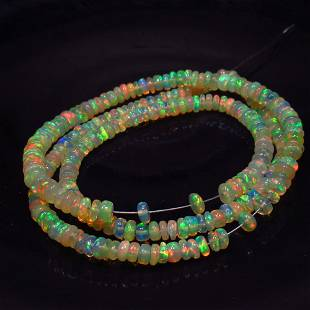 36.51 Ct Natural 286 Drilled Fire Opal Beads