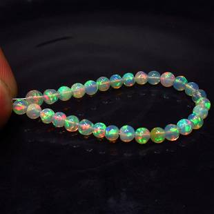 8.85 Ct Natural 30 Drilled Fire Opal Ball Beads