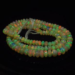 104.42 Ct Natural 145 Drilled Faceted Fire Opal Beads