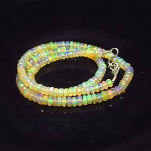 51.19 Ct 925 Silver 163 Round Multi-Color Fire Opal