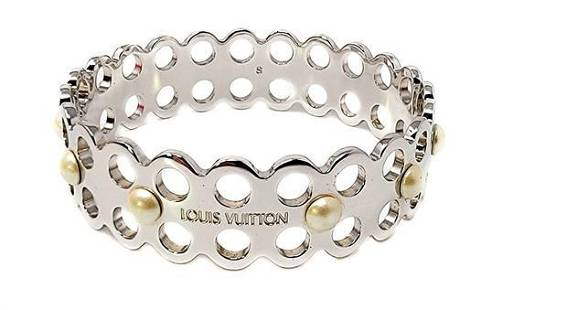 Louis Vuitton Hide and Seek Stencil Bangle Bracelet