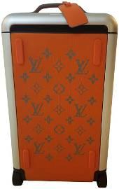 Louis Vuitton Orange Horizon 55 Soft Duffle Rolling
