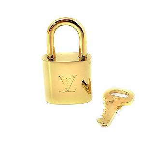 Louis Vuitton Shiny Brass Padlock and Key