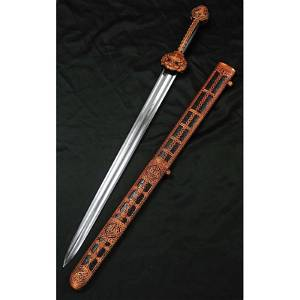 Camping carbon steel sword hunting dagger wood hiking