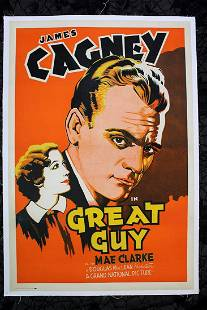 Great Guy - James Cagney (1936) US One Sheet Movie