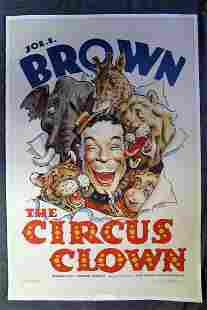 The Circus Clown - Joe E. Brown (1934) US One Sheet