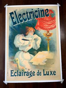 """Electricine - Art by Lucien Baylac (1895) 34.75"""" x 49"""""""