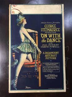 On With The Dance - Mae Murray (1920) US Window Card