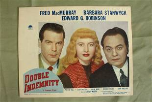 Double Indemnity - Stanwyck - Robinson (1944) US Lobby