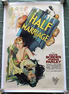 Half Marriage (USA, 1929) US One Sheet Movie Poster