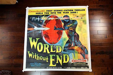 World Without End (1956) US 6SH Movie Poster LB