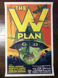 The W Plan (1931) UK One Sheet Movie Poster LB