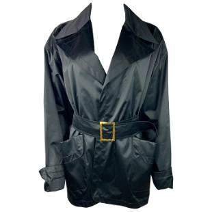 Vintage Chanel Boutique Navy Rain Coat Jacket