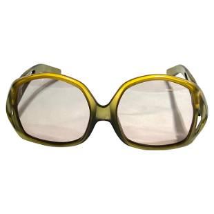Vintage Christian Dior Green Square Sunglasses