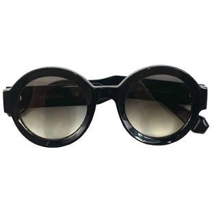 GIGI Studios Black Round Laura Sunglasses