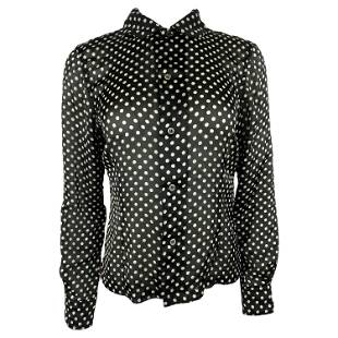 Comme des Garcons Black and White Polka Dot Blouse Top,