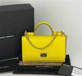 Dolce & Gabbana Miss Sicily Wallet on Chain WOC Yellow